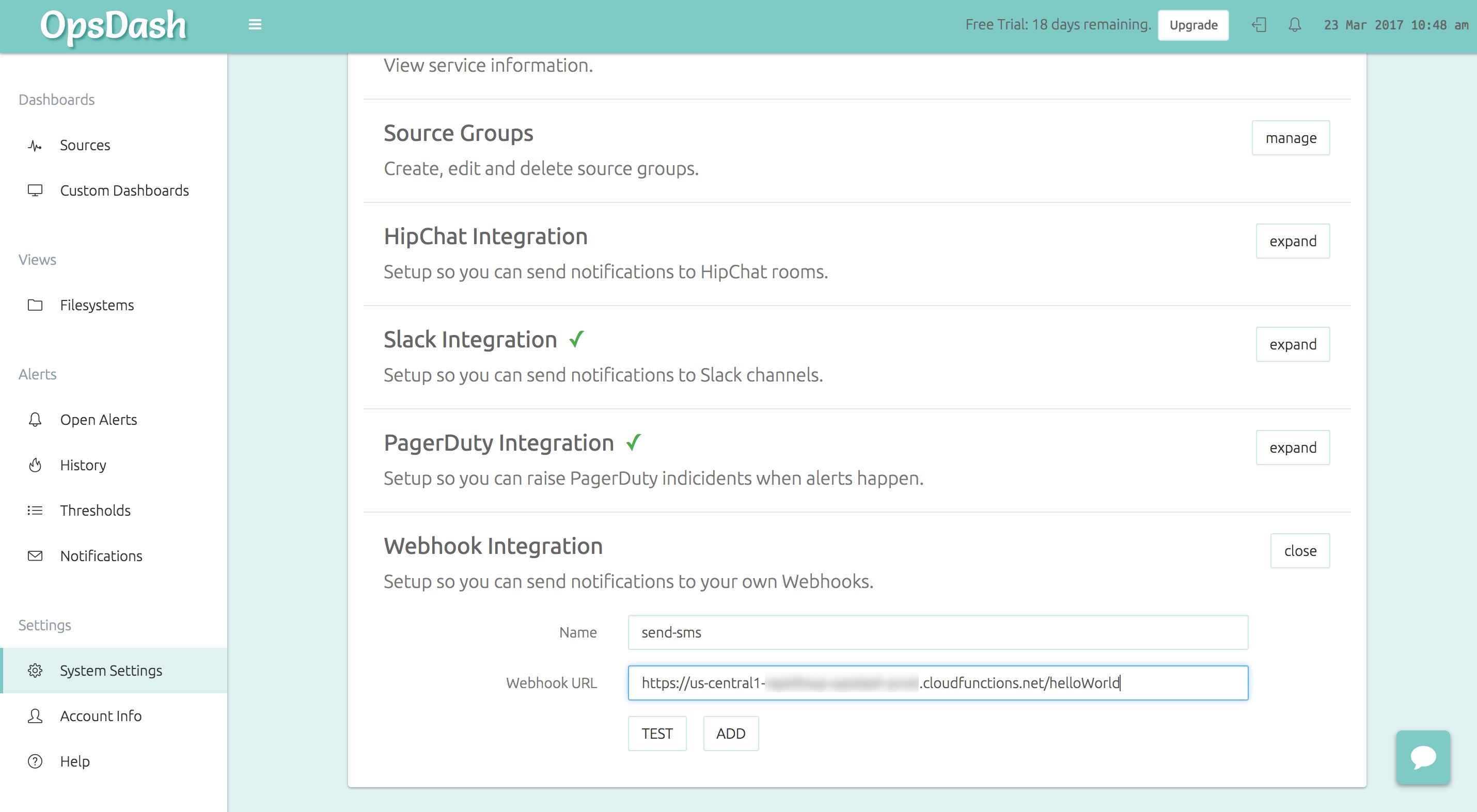 Hosting Your Webhooks using Google Cloud Functions - OpsDash