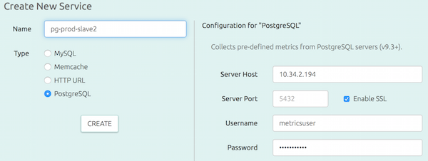 Adding a PostgreSQL instance to monitor
