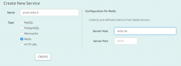 Adding a Redis instance to monitor