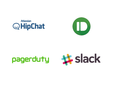 notifications via email, hipchat, slack, pagerduty and pushbullet